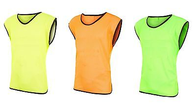 12 Scrimmage Vests Soccer Basketball Team Training Adult & Youth Pinnies Jerseys