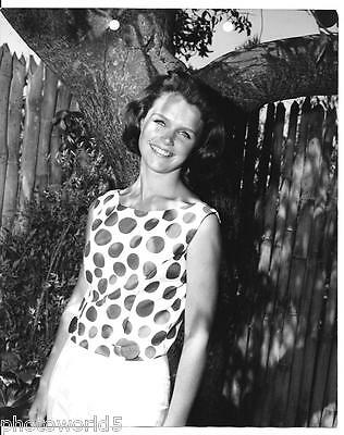 Pretty Smiling Actress Lee Remick in Polka Dots Vintage 8x10 Photo