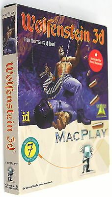 WOLFENSTEIN 3D MACPlay EMPTY FULL RETAIL GAME BOX WITH COVER SLIP ART ONLY!!
