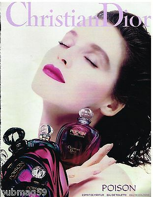 Publicité Advertising 1990 Parfum Poison par Christian Dior
