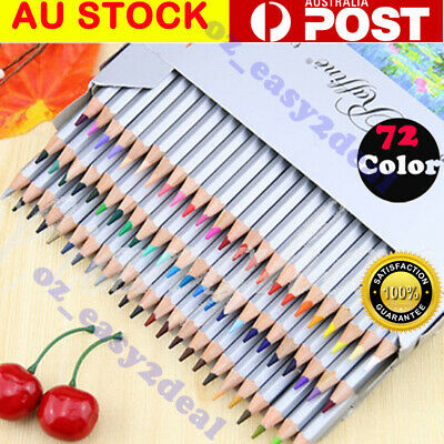 GENUINE 72 Color Marco Drawing Oil Base Non-toxic Pencils set for Artist Sketch