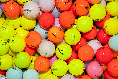 50 Mixed Colour Golf Balls Near Mint / Standard Grade