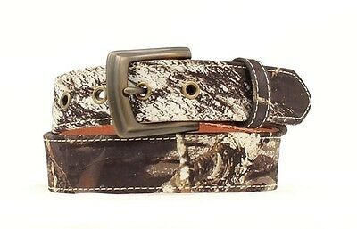 "NOCONA - Boy's Leather Belt 1.25"" - Mossy Oak -  N44150222 - NEW"