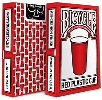 Red Cup Bicycle Playing Cards - Red Cup Party Bike Card Deck from USPCC