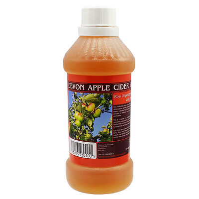 Apple Cider Vinegar - 547ml - Raw, Unfiltered, Unpasteurised & with Mother