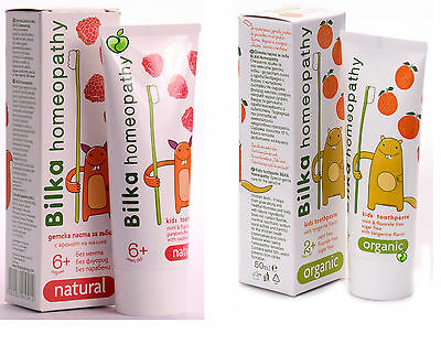 Bilka Homeopathy Organic Toothpaste for healthy and white children's teeth