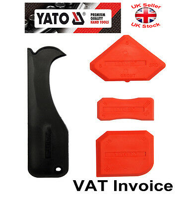 Yato Silicone Sealant Spreader Finishing Kit Tool + Caulk Remover 4 pcs YT-5262