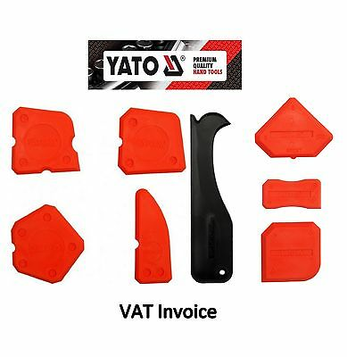 Yato Silicone Sealant Spreader Finishing Tool Applicator Tiling Tool Set Of 8