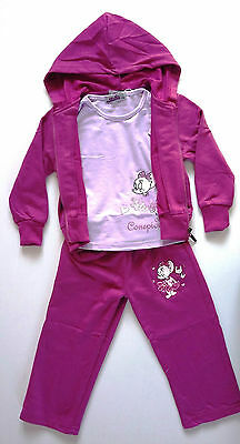 Girls Tracksuits 3 Pieces Top Hoodie Joggers Pants Many Sizes SALE
