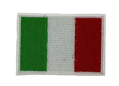 Patch ecusson brode Drapeau italie italia thermocollant 3x5cm backpack
