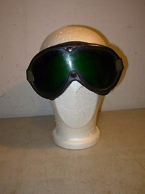 Vintage H.L. Bouton Co Buzzards Bay Mass USA Sun Wind Dust Motorcycle Goggles