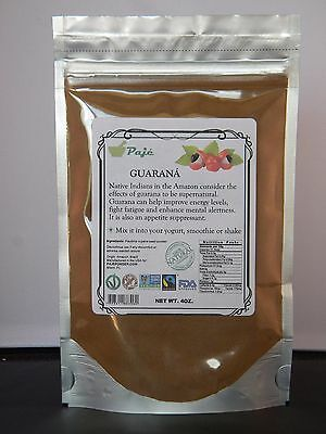 Guarana seed powder 4oz - weight loss, energy boost, memory sharpness - PAJE