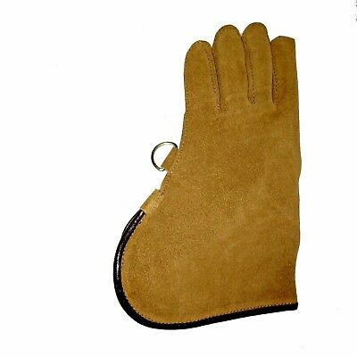 New Falconry Glove Single Layer Suede Leather 12 Inches Long Standard Size Brown