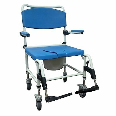 Bariatric Aluminum Rehab Shower Commode Chair, Weight Capacity  500 lbs.
