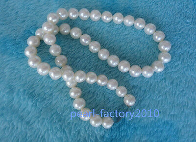 "18"" AAA 8-9 MM SOUTH SEA NATURAL White PEARL NECKLACE 14K GOLD  CLASP"