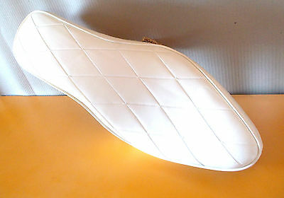 Sportster Ironhead XLCH  XLH NOS WHITE  Custom Seat 1965 - 1974 made in Italy