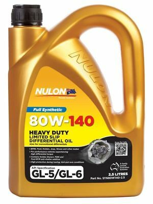 Nulon Full Synthetic Limited Slip Differential Diff Oil 80W-140 2.5 Litre