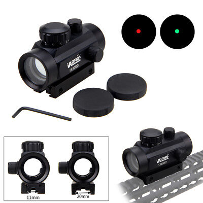 Tactical Holographic Red & Green Dot Sight Scope Illuminated Reflex 5 MOA Mount