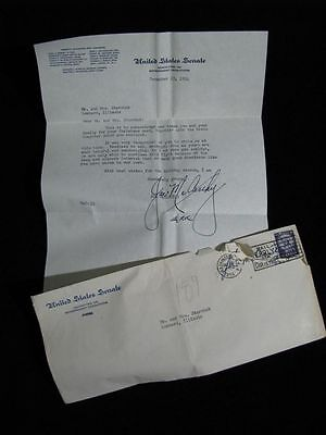 "Signed Joseph McCarthy Letter; Dated Dec. 23, 1954 ""Continue the Fight"""
