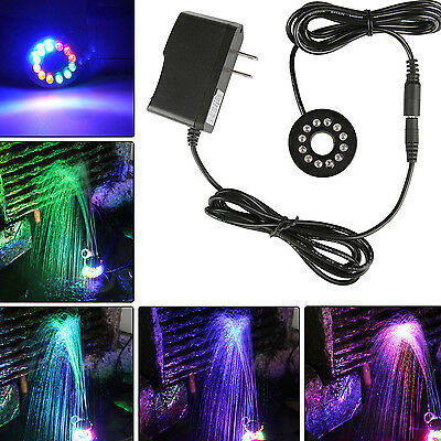 1 x RGBY Color Changing LED Submersible Underwater Fountain Ring Light 12 LED