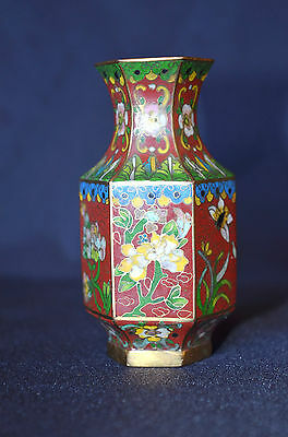 High Quality Antique Very Fine Chinese Small Cloisonne Vase