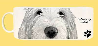 Italian Spinone Dog Wrap Image Ceramic Mug with Gift Tag - Where's my cookie?