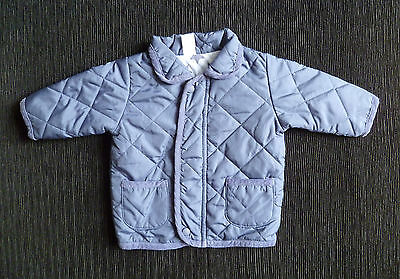 Baby clothes BOY 0-3m NEXT blue quilted zip padded jacket/coat 2nd item post-fre