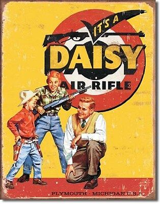 "12 1/2"" X 16"" TIN SIGN ITS A DAISY AIR RIFLE METAL SIGN NEW"