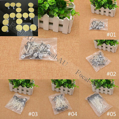 50pcs Waxed Candle Wick DIY Cotton Core Candle Making Supplies 3.5/4/7/10/13.5CM