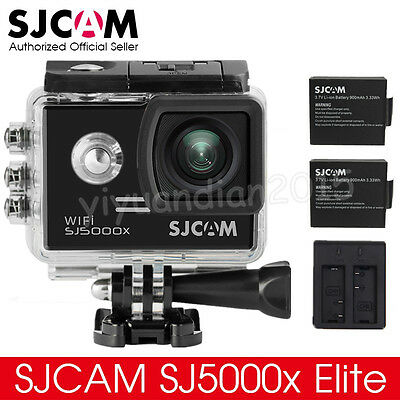 Original SJCAM SJ5000X 4K Elite Sony Sensor WiFi Action Camera+2 Battery+Charger