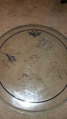 """GODSMACK SIGNED CLEAR 16"""" REMO DRUMHEAD Sully Erna #B"""