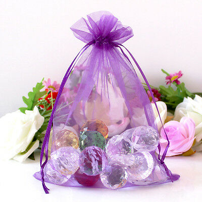 100 Sheer Organza Wedding Party Favor Decor Gift Candy Bags Jewellery Pouches