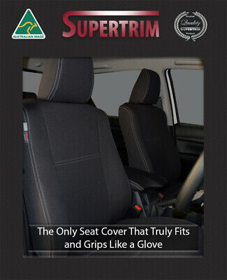 FRONT Seat Covers FULL BACK+ MAP POCKETS Toyota Hilux SR SR5 Premium Neoprene