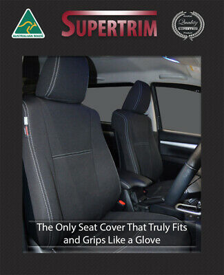FRONT and REAR Seat Covers Toyota Hilux SR SR5 Premium Neoprene Waterproof