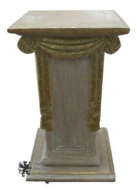 Unique Hand Painted Pedestal Greek Roman Style Decorative Home Decor Stand Plant