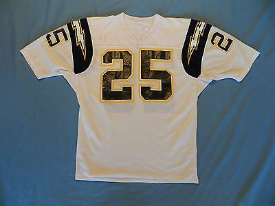 Vincie Glenn 1988-89 San Diego Chargers game used jersey