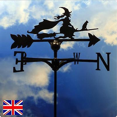 High Quality British Made Witch on a Broomstick Weathervane.(70B)
