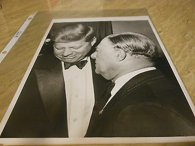 VINTAGE 1961 JFK 8X10 B/W UP WIRE PHOTO OF Inaugural Party George Jessel