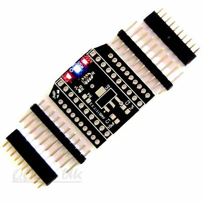 "XBee/XBee Pro/Ciseco XRF Breakout Board to 0.1"" DIP Adapter 3 LED Indicators NEW"