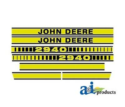 To fit John Deere 2940 tractor decal set