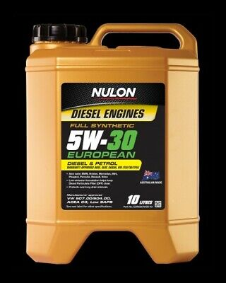 Nulon EURO Full Synthetic Car Diesel or Petrol Engine Oil 5W-30 10 Litre