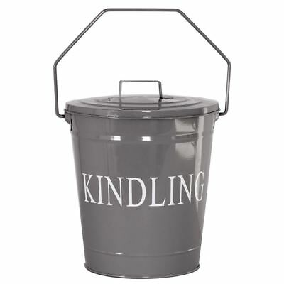 Kindling Bucket Lid Grey Fire Coal Ash Log Wood Storage Basket By Home Discount