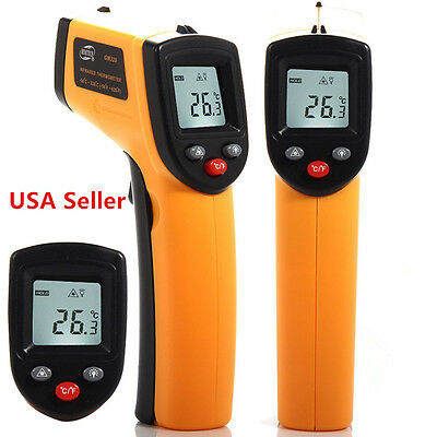 0Non-Contact IR Infrared Digital Temperature Temp Thermometer Laser Point Gun E1