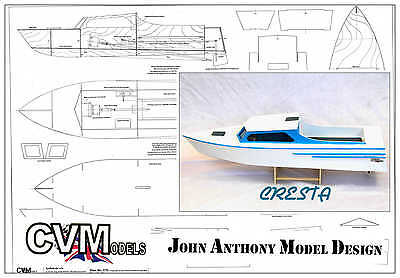 Model boat plans to build this 24.5 Inch long Fast model boat M070