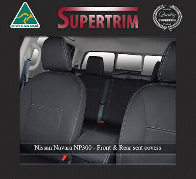 FRONT Seat Covers fits Nissan Navara NP300 Premium Neoprene Waterproof 100% Fit