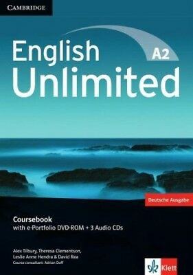 English Unlimited A2 - Elementary. Coursebook with e-Portfolio DVD-ROM + 3 Audio
