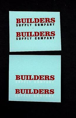 MATCHBOX TRANSFERS/DECALS - 60a MORRIS J2 PICK-UP Builders Supply - White/Black