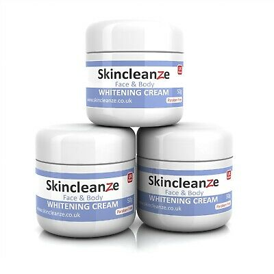 New Skin Whitening Lightening Cream Bleaching Age/Dark Spots Acne Scars-3x50gPot