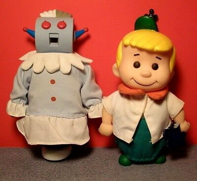 Vintage 1990 The Jetsons Rosie & Elroy Figures Applause
