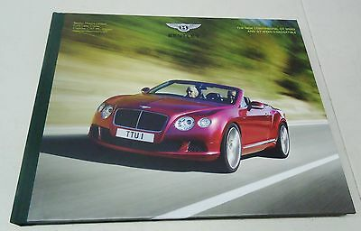 "Bentley ""the New Continental Gt Speed And Gt Speed Convertible"" Dealer Book"